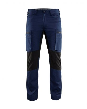 Blaklader 1459 Stretch Service Trousers - 65% Polyester/35% Cotton (Navy/Black)
